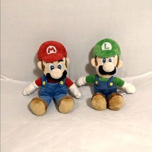 Nintendo Super Mario Bros Wii MARIO & Luigi Plush